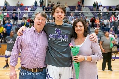 Broughton basketball senior night and Coach Farrell appreciation. February 15, 2019. 750_7444