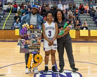 Broughton basketball senior night and Coach Farrell appreciation. February 15, 2019. 750_7415