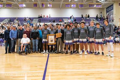 Broughton basketball senior night and Coach Farrell appreciation. February 15, 2019. 750_7486