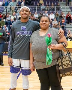 Broughton basketball senior night and Coach Farrell appreciation. February 15, 2019. 750_7433