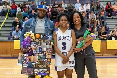 Broughton basketball senior night and Coach Farrell appreciation. February 15, 2019. 750_7416