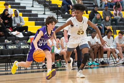 Broughton JV and varsity boys basketball at Apex. December 4, 2019. D4S_0904