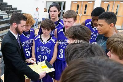 Broughton JV and varsity boys basketball at Apex. December 4, 2019. D4S_0977