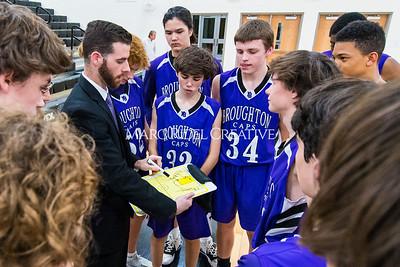 Broughton JV and varsity boys basketball at Apex. December 4, 2019. D4S_0978