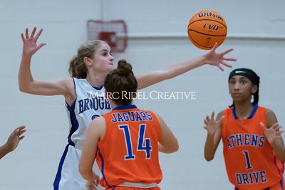 Broughton JV and varsity girls basketball vs Athens Drive. December 6, 2019. MRC_7965