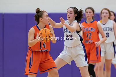 Broughton JV and varsity girls basketball vs Athens Drive. December 6, 2019. MRC_7997