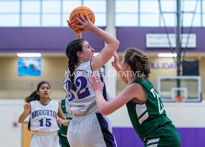 Broughton girls JV basketball vs Cardinal Gibbons. January 6, 2020. D4S_6061