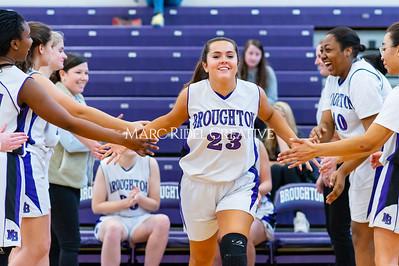 Broughton girls JV basketball vs Cardinal Gibbons. January 6, 2020. D4S_5910
