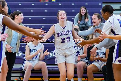 Broughton girls JV basketball vs Cardinal Gibbons. January 6, 2020. D4S_5906