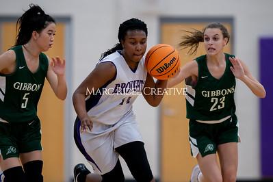 Broughton girls JV basketball vs Cardinal Gibbons. January 6, 2020. D4S_6011