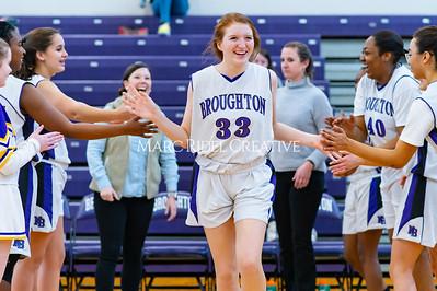 Broughton girls JV basketball vs Cardinal Gibbons. January 6, 2020. D4S_5916