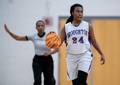 Broughton girls JV basketball vs Cardinal Gibbons. January 6, 2020. MRC_9961