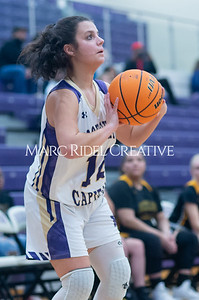 Broughton Lady Caps varsity basketball vs Enloe. December 17, 2019. D4S_8643