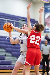 Broughton JV girls basketball vs Sanderson. January 9, 2020. MRC_0251