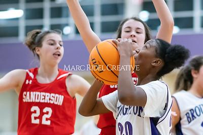 Broughton JV girls basketball vs Sanderson. January 9, 2020. MRC_0321