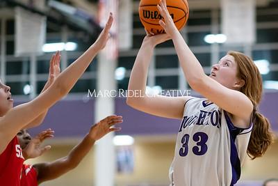 Broughton JV girls basketball vs Sanderson. January 9, 2020. MRC_0325