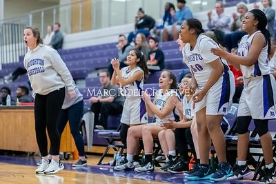 Broughton JV girls basketball vs Sanderson. January 9, 2020. MRC_0281