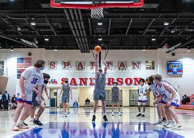 Broughton varsity basketball vs Sanderson. February 12, 2021