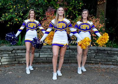 Broughton cheerleading seniors. November 8, 2019. MRC_5649