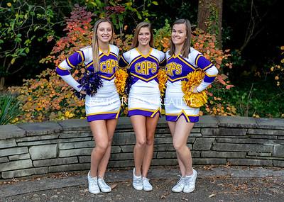 Broughton cheerleading seniors. November 8, 2019. MRC_5643