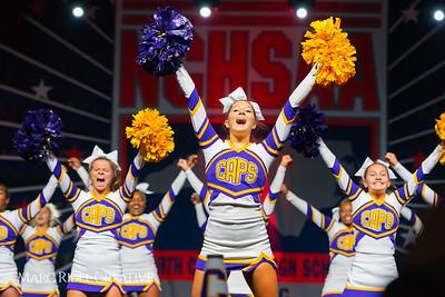 Broughton cheerleading at the NCHSAA Invitational. December 1, 2018, 750_1404