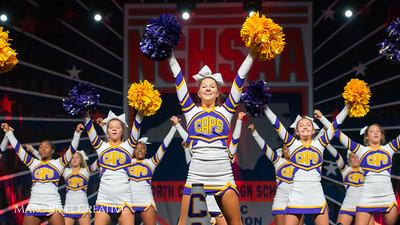 Broughton cheerleading at the NCHSAA Invitational. December 1, 2018, 750_1407