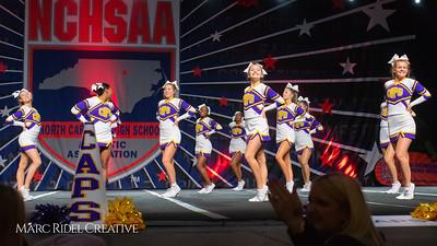Broughton cheerleading at the NCHSAA Invitational. December 1, 2018, MRC_5452