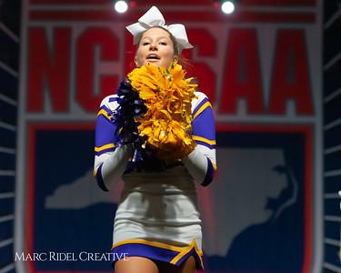 Broughton cheerleading at the NCHSAA Invitational. December 1, 2018, 750_1394