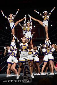 Broughton cheerleading at the NCHSAA Invitational. December 1, 2018, 750_1446