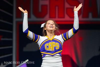 Broughton cheerleading at the NCHSAA Invitational. December 1, 2018, 750_1361