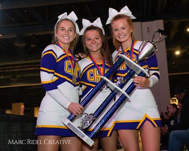 Broughton cheerleading at the NCHSAA Invitational. December 1, 2018, MRC_5499