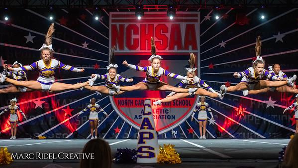 Broughton cheerleading at the NCHSAA Invitational. December 1, 2018, MRC_5466