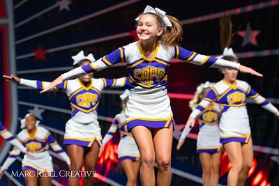 Broughton cheerleading at the NCHSAA Invitational. December 1, 2018, 750_1333