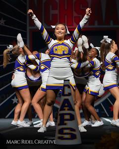 Broughton cheerleading at the NCHSAA Invitational. December 1, 2018, 750_1452