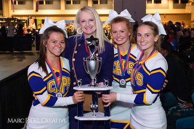 Broughton cheerleading at the NCHSAA Invitational. December 1, 2018, MRC_5481