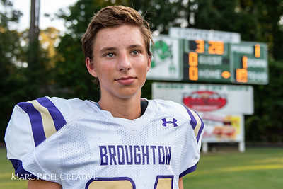 Broughton JV football vs. Cary. August 29, 2018.