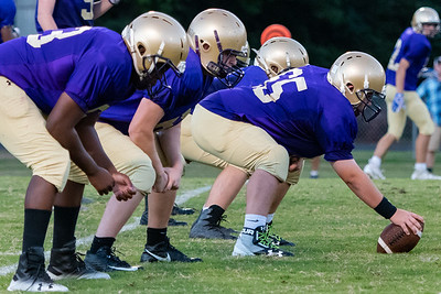Broughton JV football vs Millbrook. November 1, 2018.