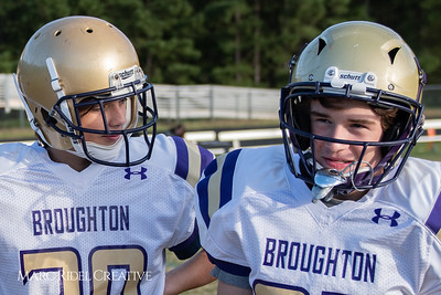 Broughton JV football vs. Southeast Raleigh. October 22, 2018.