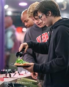 Broughton football senior dinner at Mellow Mushroom. November 7, 2108.