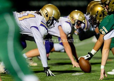 Broughton JV football at Cardinal Gibbons. October 24, 2019. D4S_1048