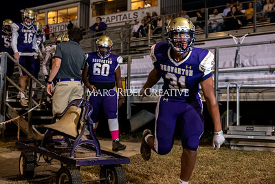Broughton varsity football vs Cardinal Gibbons. Band and Dance Team Senior Night. October 25, 2019. MRC_3616