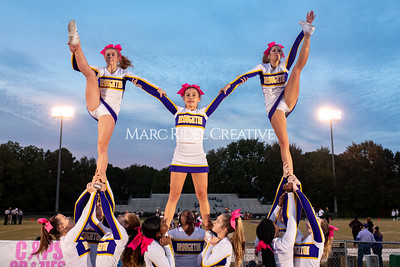 Broughton varsity football vs Cardinal Gibbons. Band and Dance Team Senior Night. October 25, 2019. MRC_3553