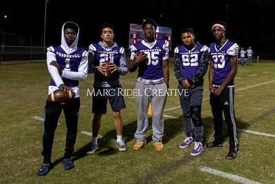 Broughton varsity football vs Cardinal Gibbons. Band and Dance Team Senior Night. October 25, 2019. MRC_3595