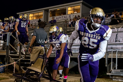 Broughton varsity football vs Cardinal Gibbons. Band and Dance Team Senior Night. October 25, 2019. MRC_3611
