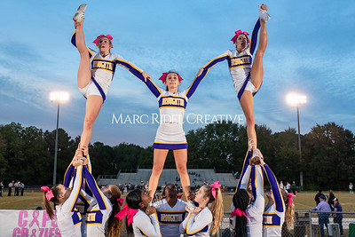 Broughton varsity football vs Cardinal Gibbons. Band and Dance Team Senior Night. October 25, 2019. MRC_3554