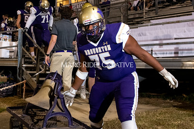 Broughton varsity football vs Cardinal Gibbons. Band and Dance Team Senior Night. October 25, 2019. MRC_3601