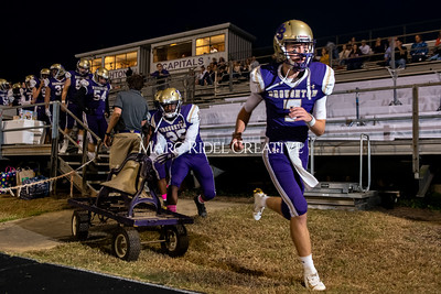 Broughton varsity football vs Cardinal Gibbons. Band and Dance Team Senior Night. October 25, 2019. MRC_3610