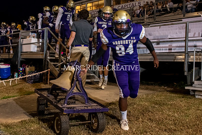 Broughton varsity football vs Cardinal Gibbons. Band and Dance Team Senior Night. October 25, 2019. MRC_3605