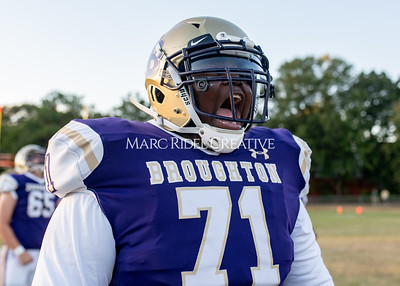 Broughton football vs Enloe. Homecoming. October 10, 2019. MRC_2847