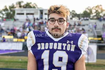 Broughton football vs Enloe. Homecoming. October 10, 2019. MRC_2877
